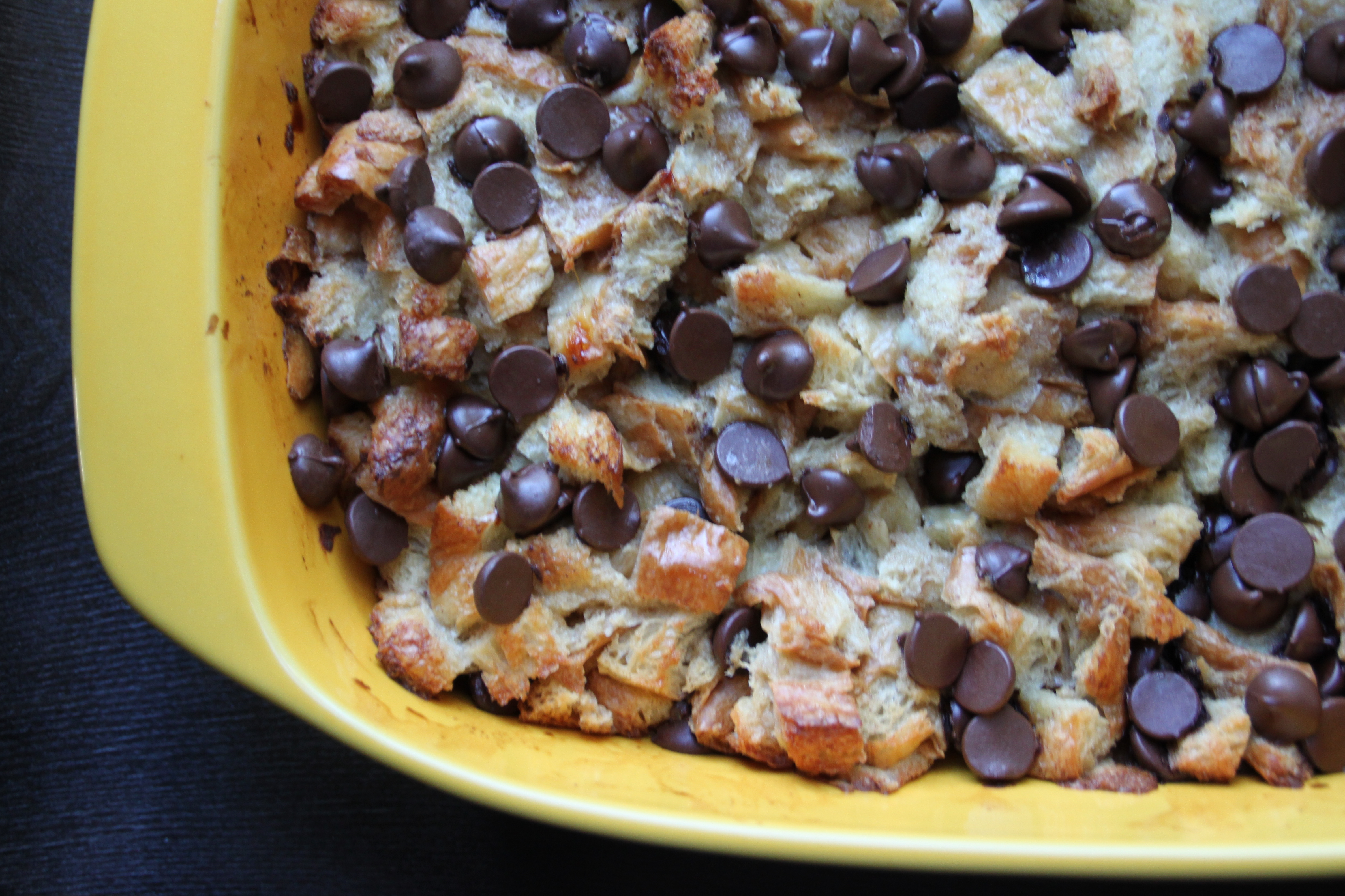 Chocolate Chip Croissant Bread Pudding | {love+cupcakes} Blog
