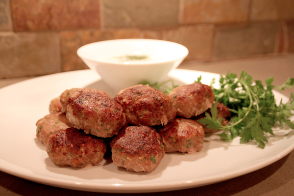 Make this: Cumin and Paprika Turkey Meatballs and Homemade Tzatziki ...