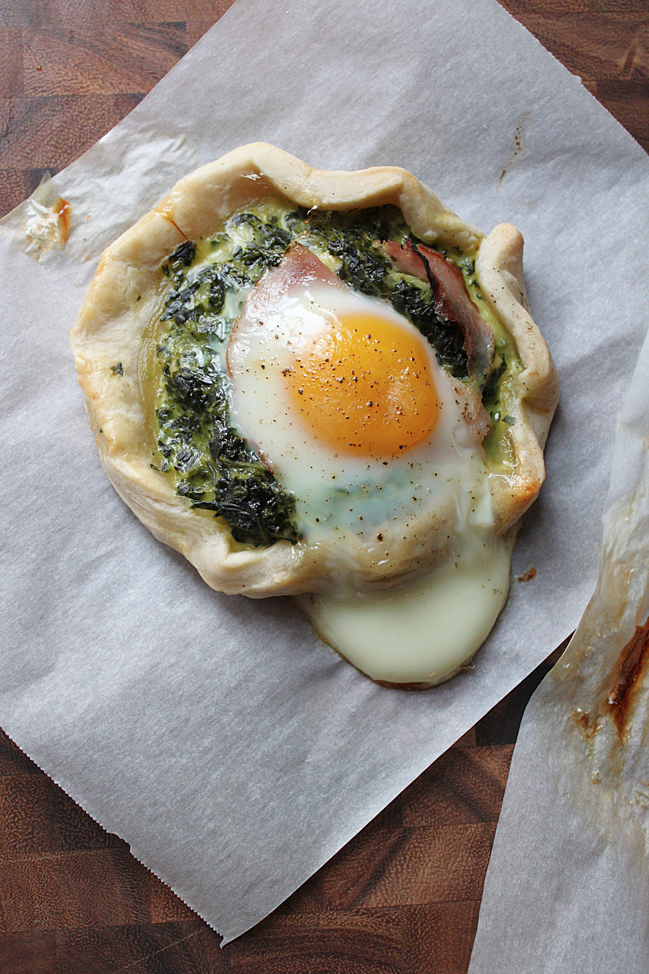 ... From the Kitchen: Spinach & Baked Egg Galette | {love+cupcakes} Blog