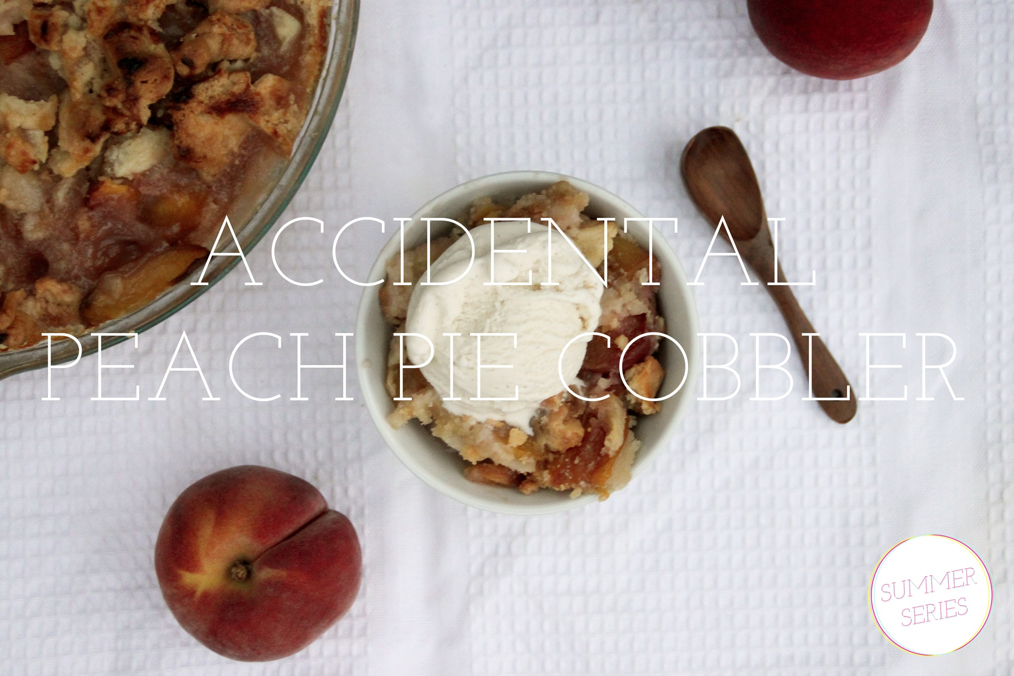 From the Kitchen: {Accidental} Peach Pie Cobbler | {love+cupcakes} Blog