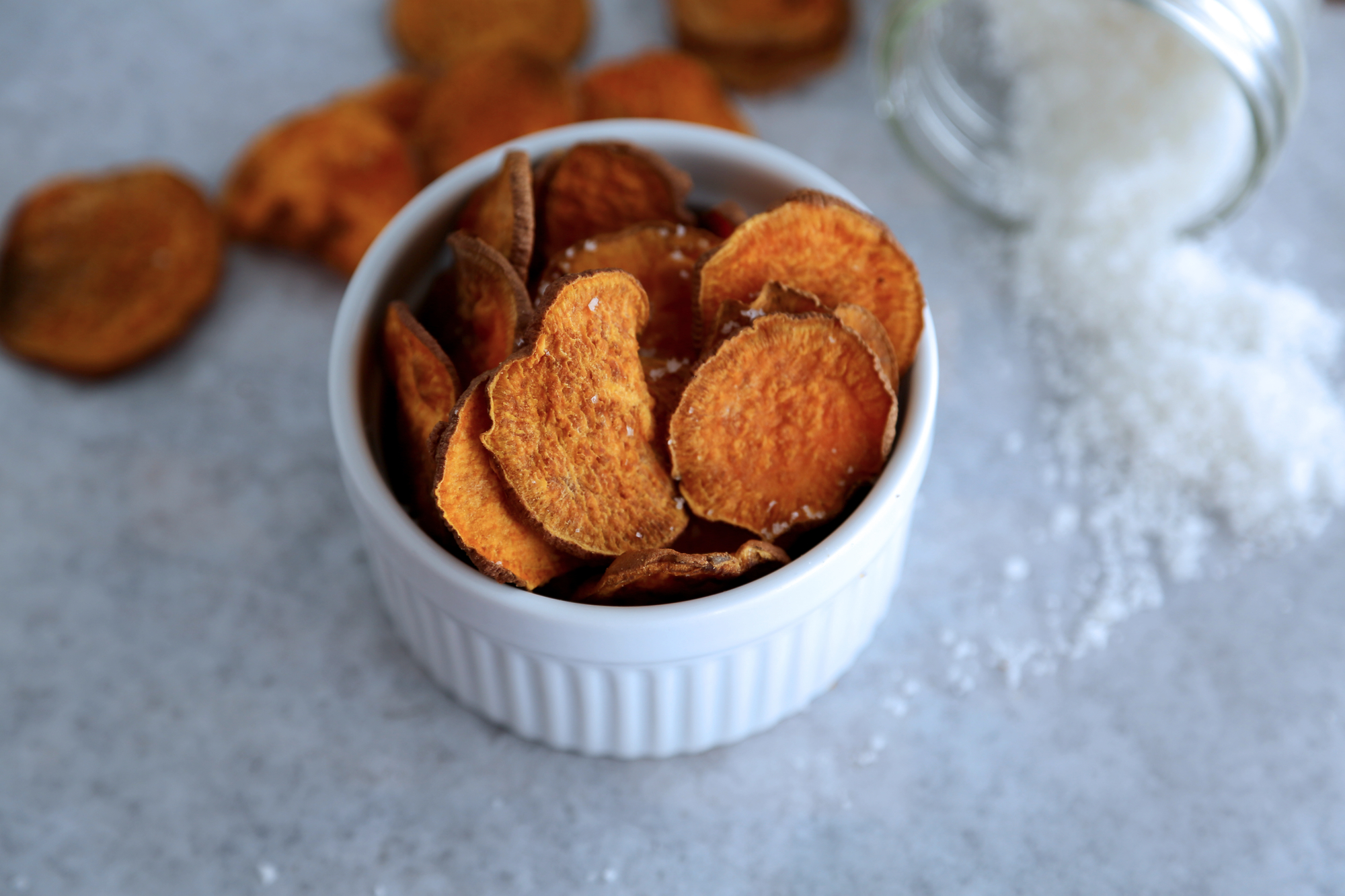 From the kitchen: Baked Sweet Potato Chips {with sea salt ...