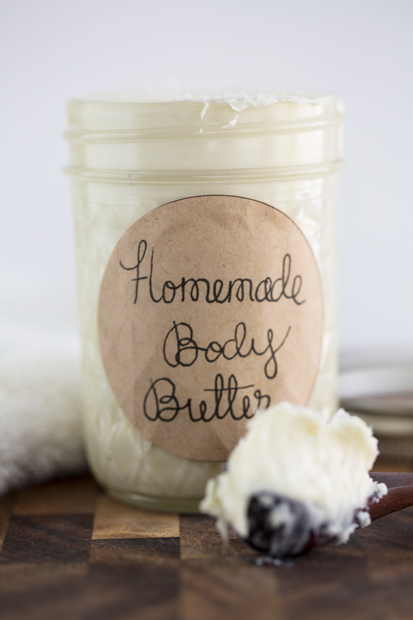 It is a photo of Impeccable Homemade Body Butter Labels