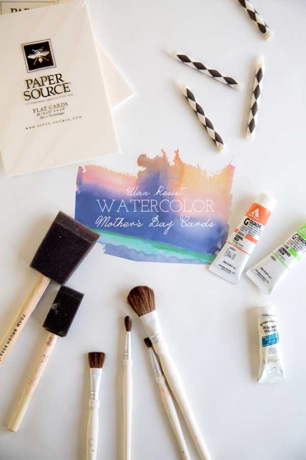 Make this wax resist watercolor mother s day card love cupcakes blog for Where can i use my synchrony home design card
