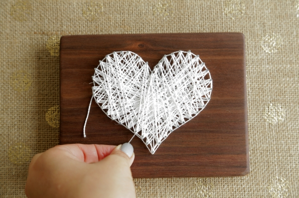 Make This String Art Heart Love Cupcakes Blog